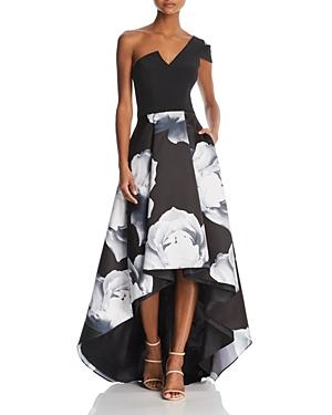Aqua One-shoulder Floral Ball Gown - 100% Exclusive In Black/white