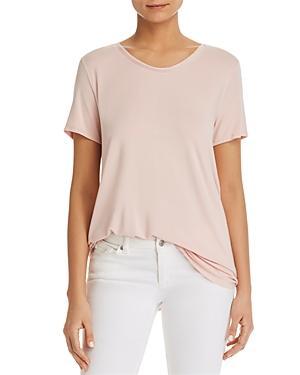 Donna Karan New York Contrast-neck Top In Blush