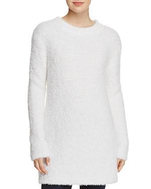 Sadie & Sage Textured Tunic Sweater In White