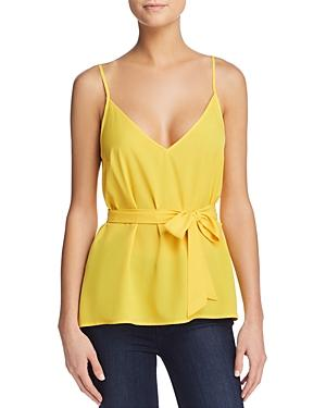 French Connection Dalma Self-tie Sash Top In Citrus