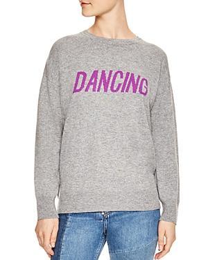 Sandro Figlio Wool & Cashmere Dancing Graphic Sweatshirt In Black