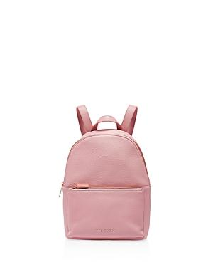 Ted Baker Pearen Soft Grain Backpack In Dusky Pink/rose Gold