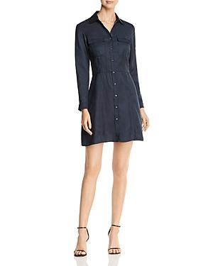 Scotch & Soda Long Sleeve Mini Shirt Dress In Night