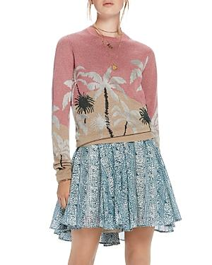 Scotch & Soda Palm Tree Jacquard Sweater In Combo A