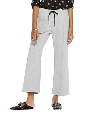 Scotch & Soda Wide Leg Drawstring Pants In Gray Melange