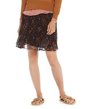 Scotch & Soda Leopard Print Mini Skirt In Combo B