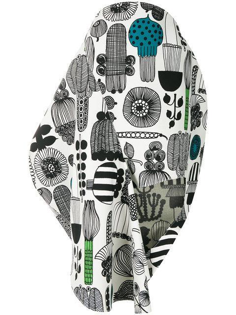 Junya Watanabe Graphic Print Asymmetric Skirt