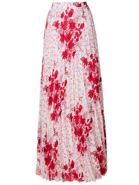 Ermanno Scervino Floral Pleated Skirt In White