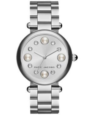 Marc Jacobs Women's Dotty Stainless Steel Bracelet Watch 34mm Mj3475 In Silver
