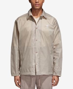 Adidas Originals Adidas Men's Originals Coach's Jacket In Vapour Grey