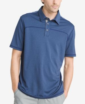 G.h. Bass & Co. Men's Performance Polo In Medieval Blue Heather
