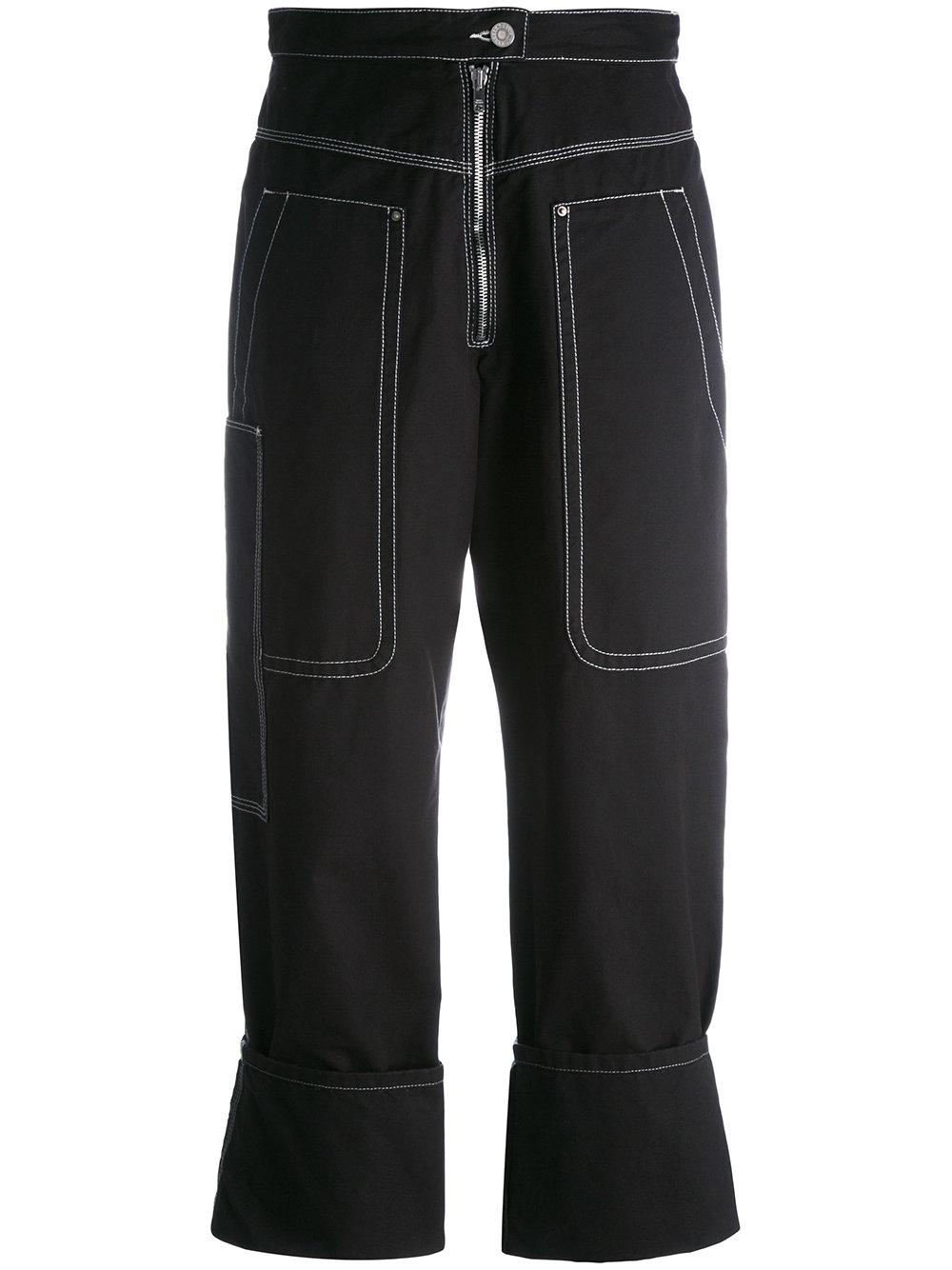 Isabel Marant Stitched Panel Trousers In Black