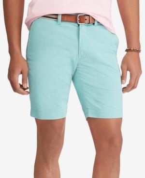 Polo Ralph Lauren Men's Stretch Slim Fit Chino Shorts In Tiki Green