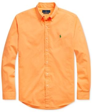 Polo Ralph Lauren Men's Classic Fit Twill Shirt In Classic Peach