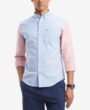 Tommy Hilfiger Men's Jonas Custom-fit Colorblocked Pocket Shirt, Created For Macy's In Multi