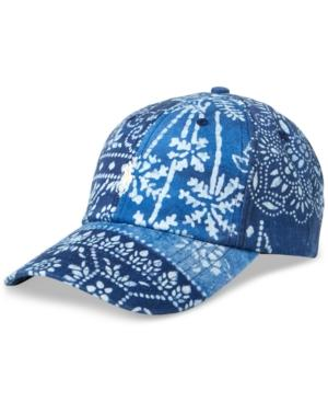 Polo Ralph Lauren Men's Graphic Embroidered Chino Baseball Cap In Moroccan Tile