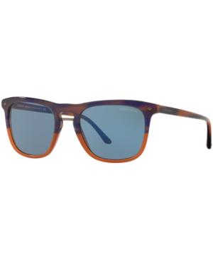 Giorgio Armani Sunglasses, Ar8107 In Blue/brown