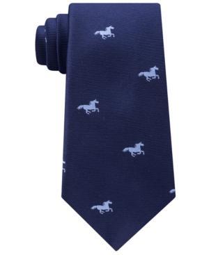 Tommy Hilfiger Men's Derby Silk Tie In Navy