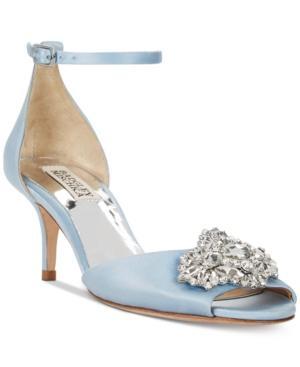 Badgley Mischka Halsey Evening Sandals Women's Shoes In Light Blue