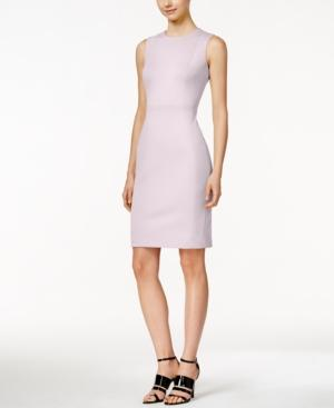 Calvin Klein Scuba Crepe Sheath Dress, Regular & Petite Sizes In Opal