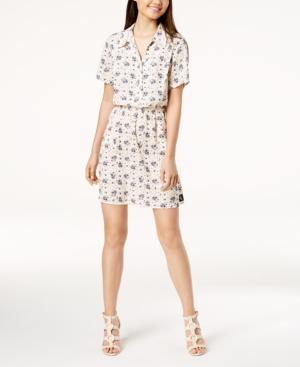 Calvin Klein Jeans Est.1978 Printed Fit & Flare Dress In Pearled Ivory