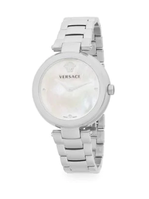 Versace Stainless Steel Bracelet Watch In Grey
