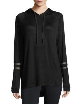 Marc New York Heathered Hoodie In Black