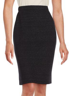 St. John Wool-blend Skirt In Black