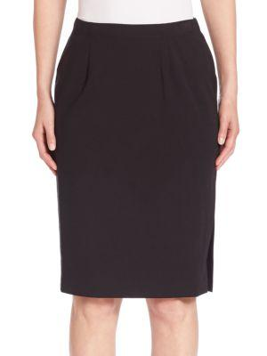 Eileen Fisher Pleated Pencil Skirt In Black