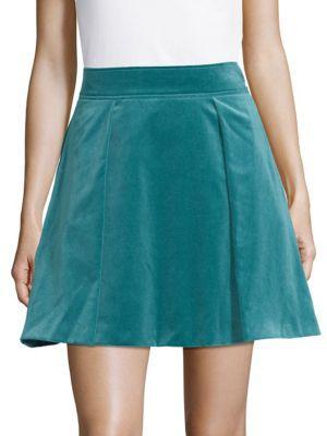 Versace Cotton A-line Skirt In Petroleum