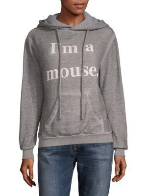 Wildfox Graphic Hoodie In Heather Grey