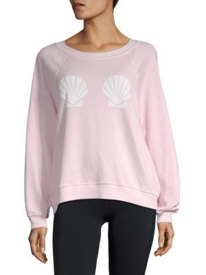 Wildfox Graphic Long-sleeve Sweatshirt In Ghost Pink