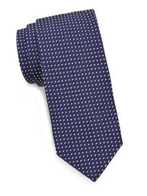 Tom Ford Dot-print Silk Tie In Navy