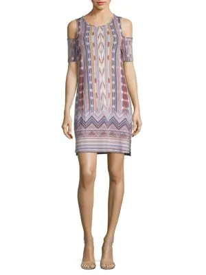 Tart Tabitha Print Dress In Ikat Borde