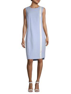 Akris Contrast Stripe Dress In Blue