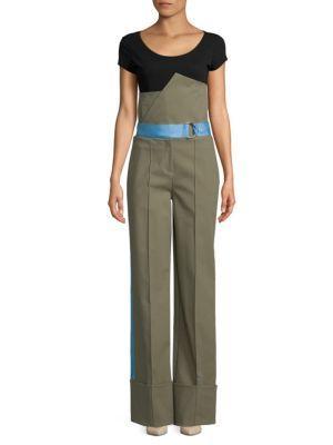 Diane Von Furstenberg Wide-leg Pants In Green