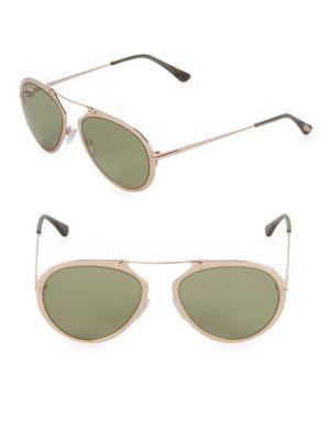 Tom Ford 18mm Aviator Sunglasses In Gold