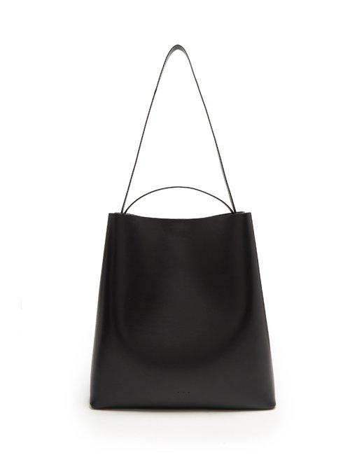 Aesther Ekme Sac Leather Tote Bag In Black
