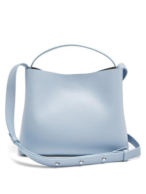 Aesther Ekme Mini Sac Leather Bag In Light Blue