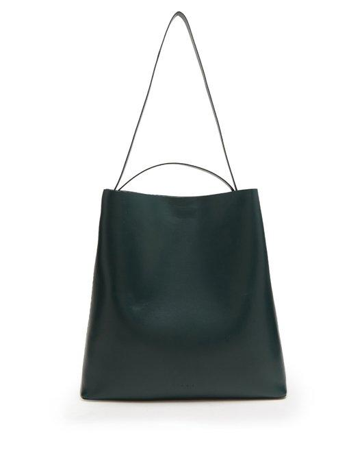 Aesther Ekme Sac Leather Tote Bag In Dark Green