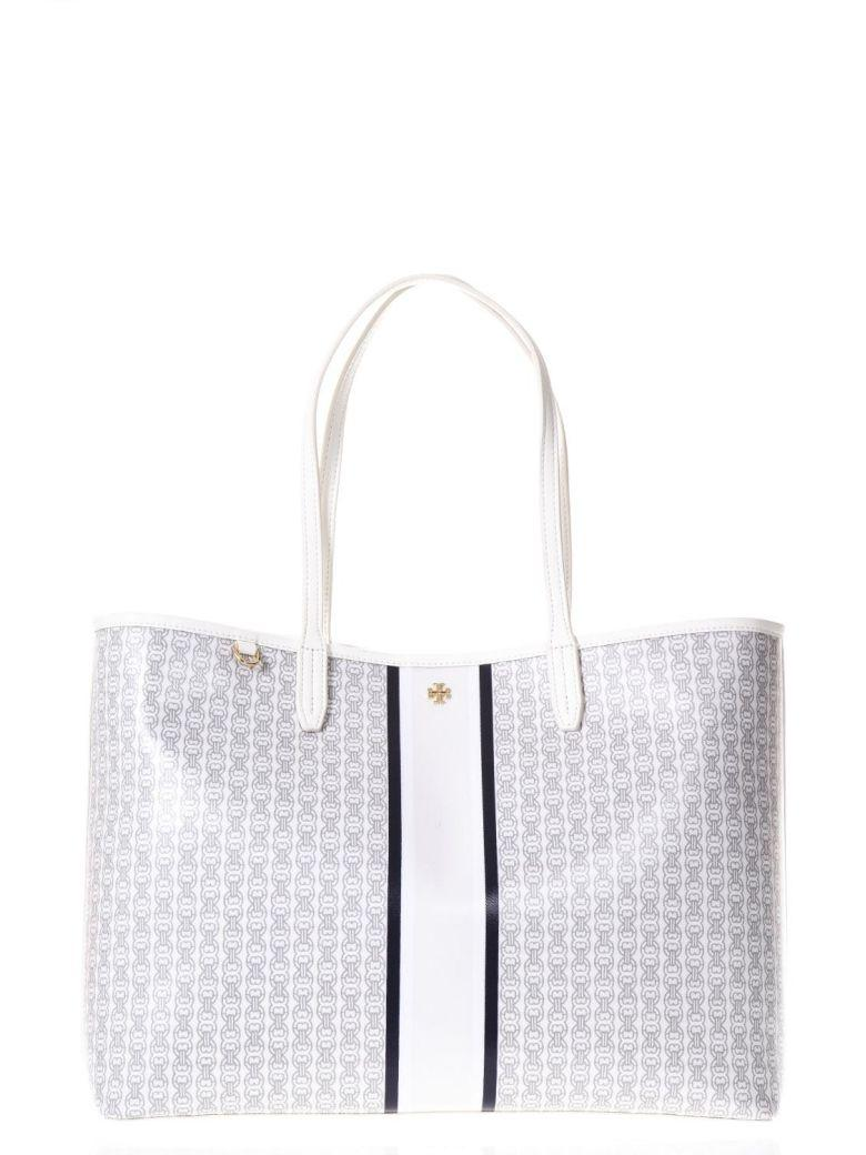 Tory Burch Chain Printed Pvc Tote In New Ivory