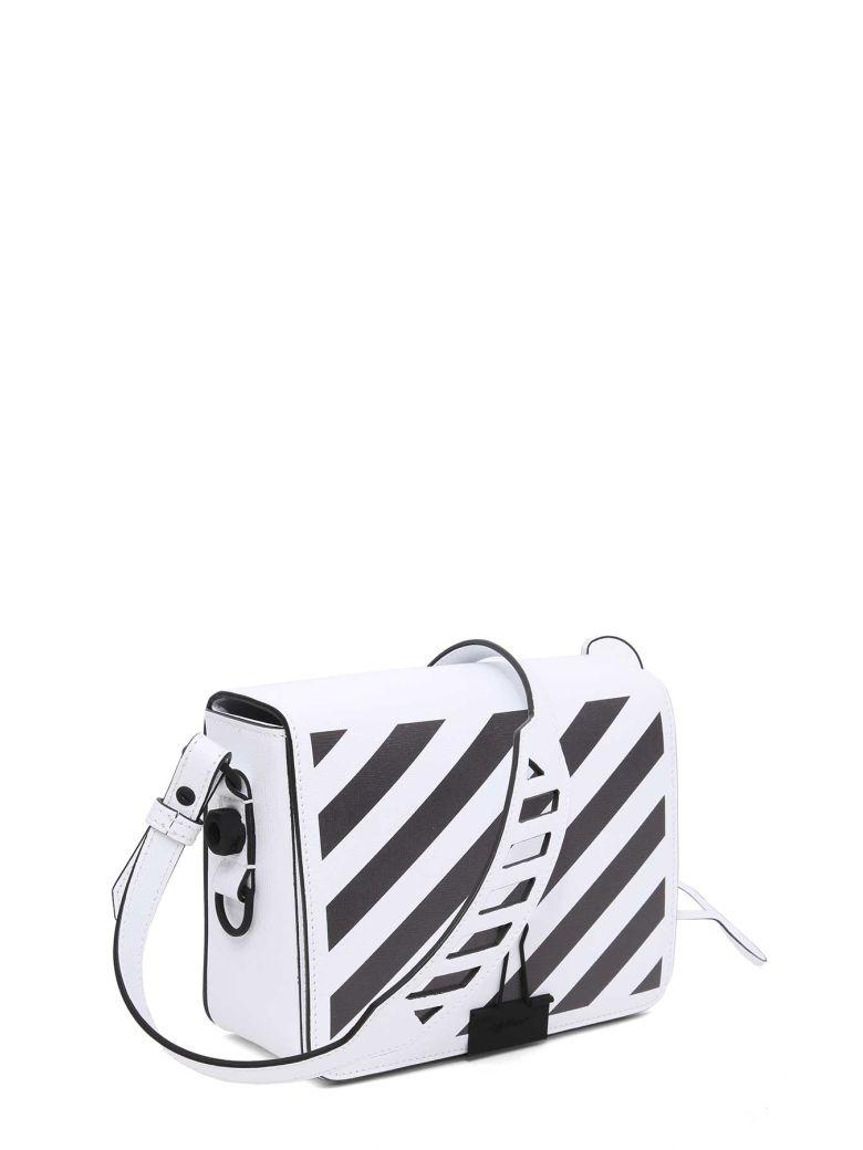 Off-white Diagonal Square Flap Bag In Bianco