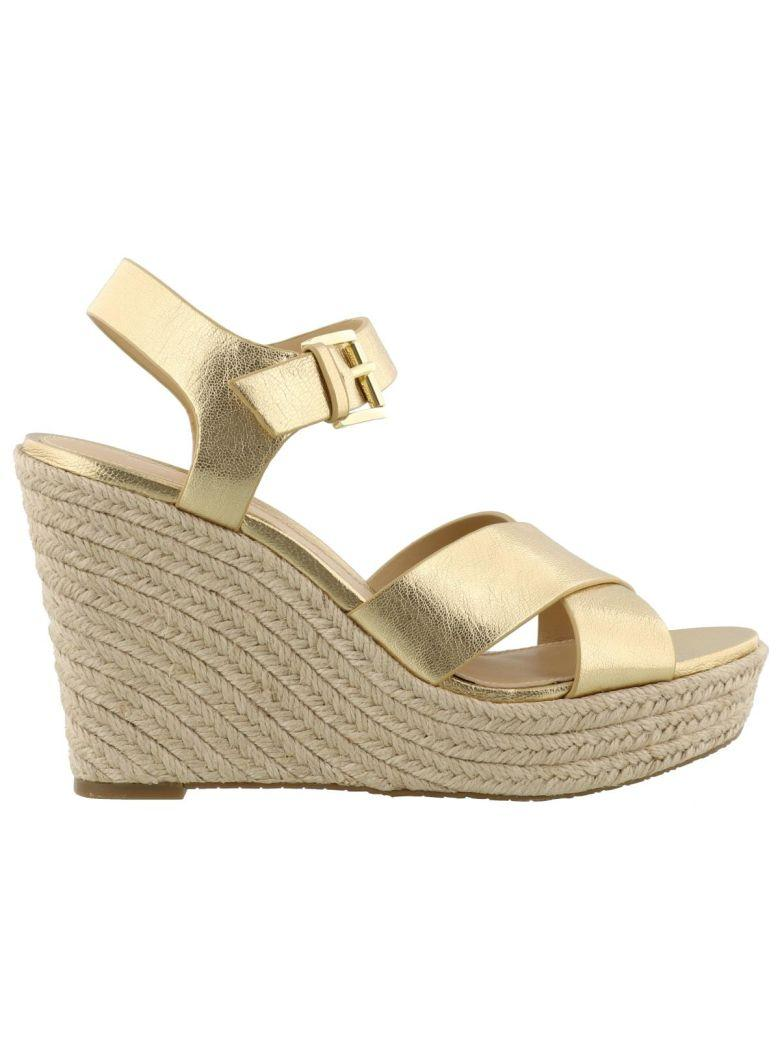 Michael Kors Kady Wedges In Pale Gold