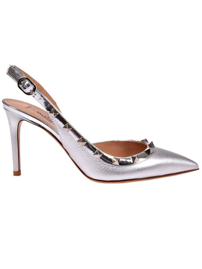 Valentino Garavani Slingback Pumps In Grey