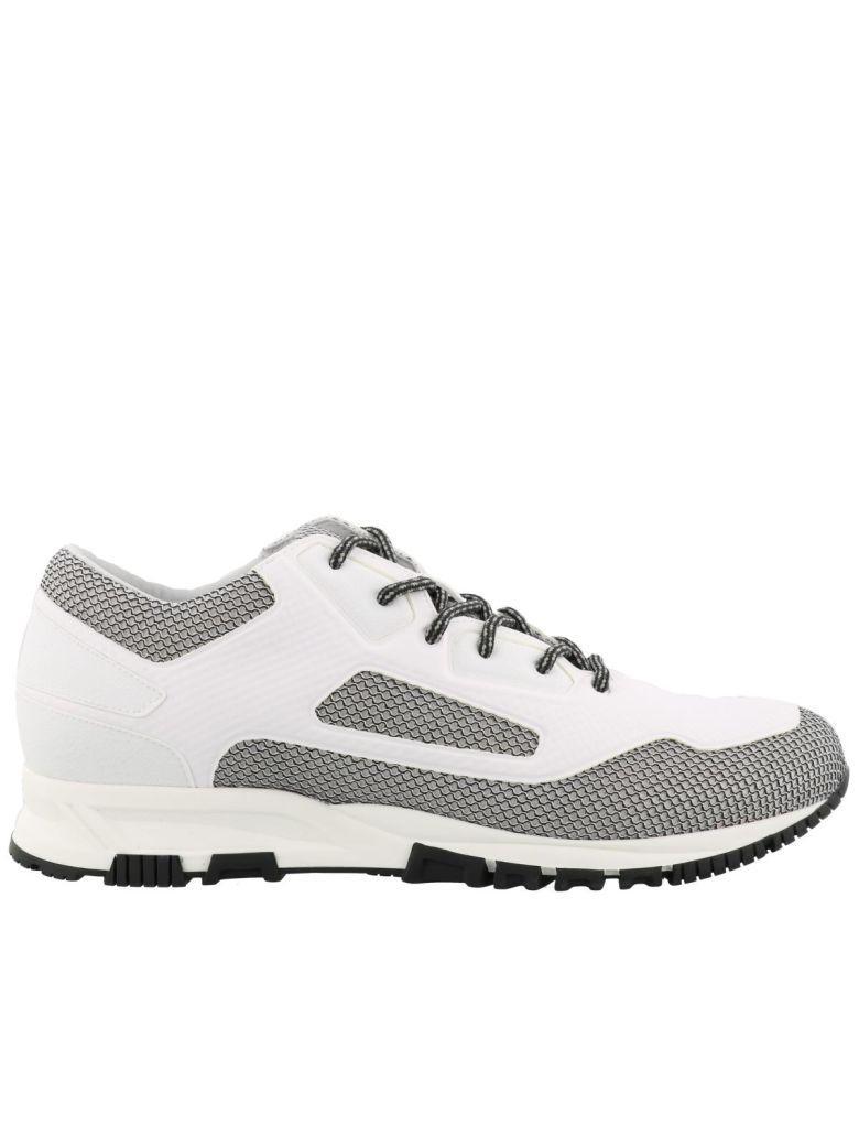Lanvin Running Sneakers In White Black