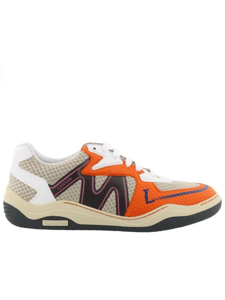 Lanvin Sneakers In Beige Orange