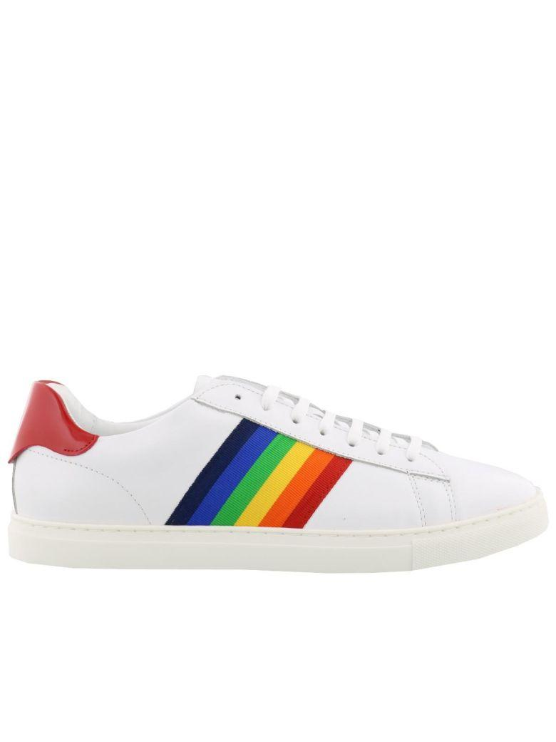 Dsquared2 New Tennis Sneakers In White Multicolor