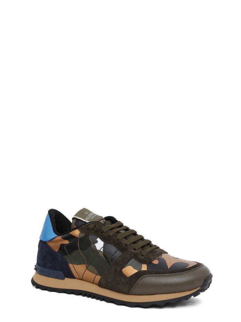 Valentino Garavani Camouflage Sneakers In Multi