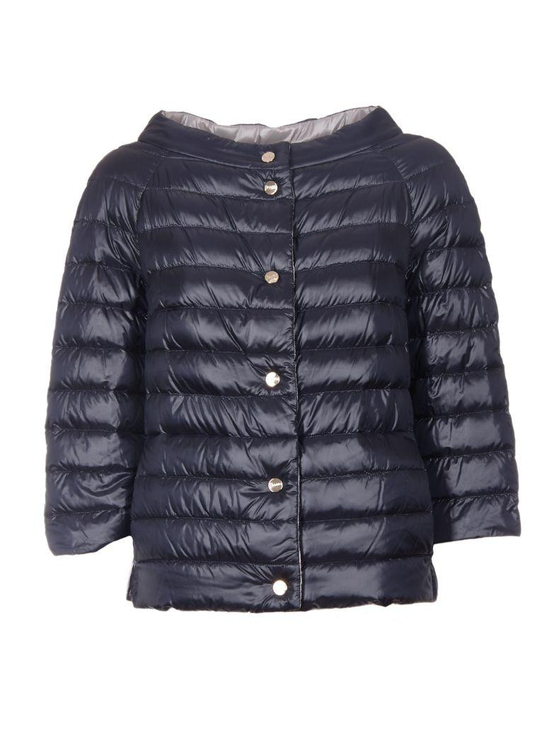 Herno Cropped Padded Jacket In Blue
