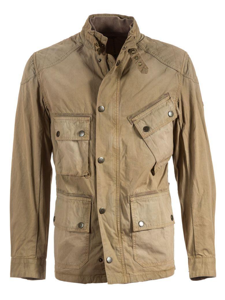 Barbour Buttoned Jacket In Beige